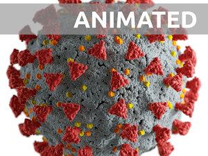 3D model pandemic corona virus