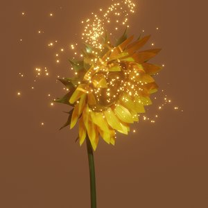 sunflower flower sun 3D model