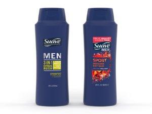 3D suave men body wash model