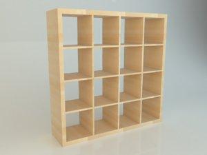 simple ikea kallax 4x4 model