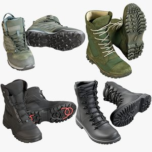 realistic boots 1 collections 3D model