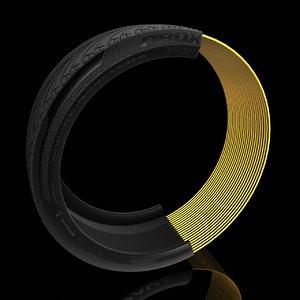 tire cross section 3D model