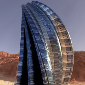 3D alien building architectural