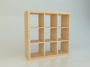 simple ikea kallax 3x3 3D