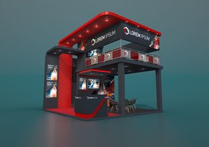 3D exhibition stand fors 6x6m