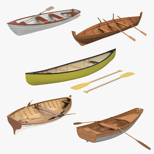 rowing boats 3 model