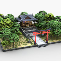 Japanese Shrine Temple 0001(1)