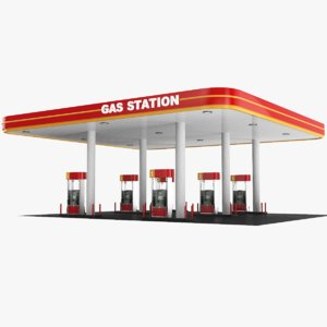 3D real gas station model