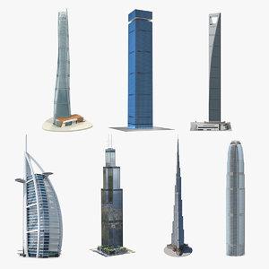 3D skyscrapers 5 model