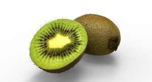 kiwi fruit food 3D model