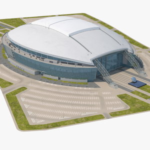 stadium parking 3D model