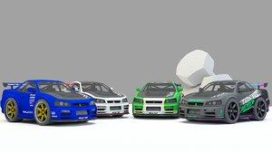 3D mini car model