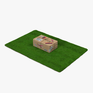 mail package doormat packing 3D