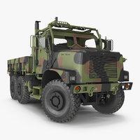 Military Cargo Truck OshKosh MTVR MK23 Rigged