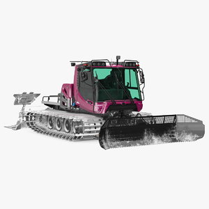 snowcat snowplow snow generic 3D model