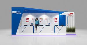 modern booth 3x6 3D