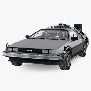 3D delorean dmc-12 time machine