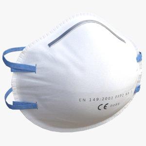 3D model dust mask ffp2