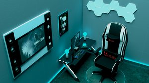 3D model gaming room
