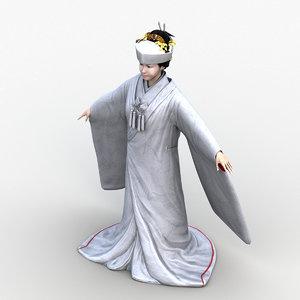 3D japanese bride