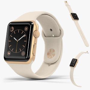 apple watch gold aluminum 3D