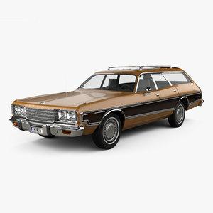 3D dodge coronet 1974 model