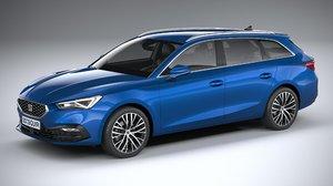 3D seat leon 2020 model