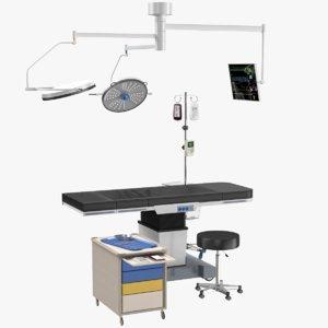 3D operating table set surgery model
