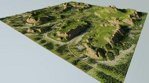 3D nature landscape