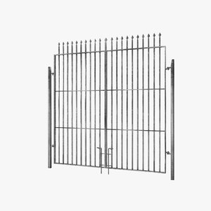 3D wrought iron gate building