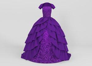 3D female dress