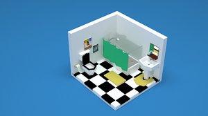 3D bathroom washroom interior