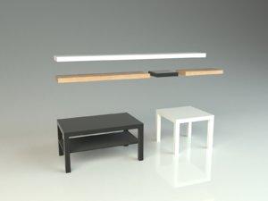 3D ikea lack bestsellers table model
