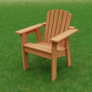 3D adirondack occasional chair model