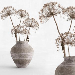 hogweed clay vase 3D model