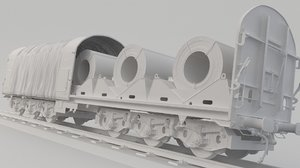 container train spool 3D model