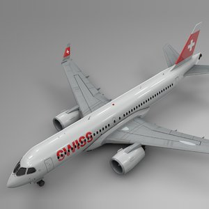 swiss air airbus a220-300 model
