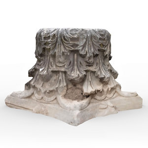 perge ancient stone rock 3D model