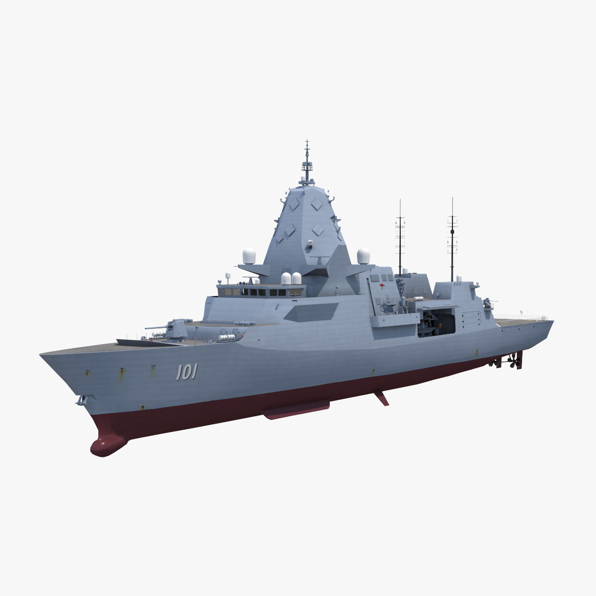 frigate hunter 3D