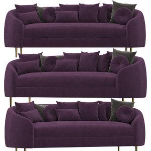 3D model trudy sofa