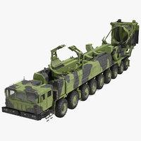 9 Axle Transporter Erector Launcher Vehicle Dirty