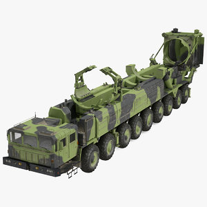 3D 9 axle transporter erector model