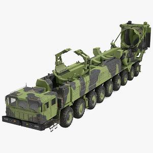3D 9 axle transporter erector model