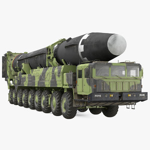 transporter erector vehicle hwasong-15 3D model