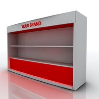 Exhibition Stand with Shelf - 06