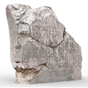 perge ancient stone rock 3D model