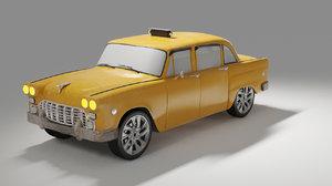 nyc cab modeled 3D model