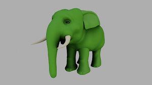 elephant rigged model