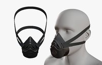 Gas mask helmet 3d model military combat fantasy cyborg space armor