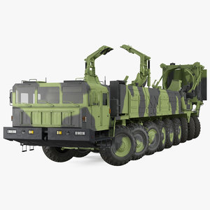 3D model 9 axle transporter erector